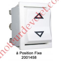 Inverseur Apem (Mécanisme seul) Unipolaire à Position Fixe Coloris Blanc