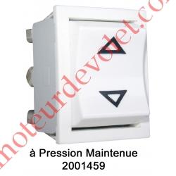 Inverseur Apem (Mécanisme seul) Unipolaire à Pression Maintenue Coloris Blanc
