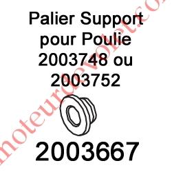Palier Support pour Poulie 2003748 ou 2003752
