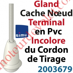 Cache Noeud du Cordon en Forme de Gland en Pvc Blanc