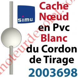 Cache Noeud du Cordon en Forme de Boule en Pvc Blanc