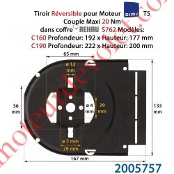 Support Moteur T5 Simu en Forme de Tiroir pour Rehau S762