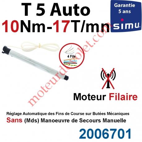Moteur Filaire Electronique T5 Auto 10/17 Réglage Automatique des FdC sans Mds