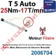Moteur Filaire Electronique T5 Auto 25/17 Réglage Automatique des FdC sans Mds