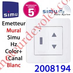 Emetteur Mural Color+ Aspect 2013 Simu Hz-Rts Blanc (1 canal)