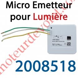 Micro Emetteur Séquentiel Simu Hz ou Somfy Rts Blanc (1 canal)