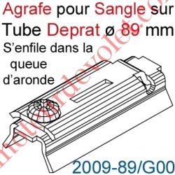Agrafe Pince à Glisser dans Queue d'Aronde pour Tube Deprat de 89