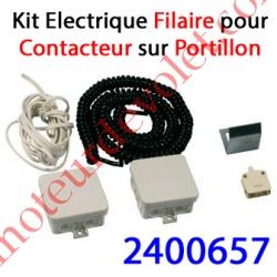 Contact Electrique Filaire sur portillon de Porte Basculante ou Sectionnelle