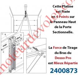 Platine Réglable de Renfort à Fixer sur le Panneau de Porte Sectionnelle pour Attacher Bras Dexxo Pro