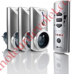 Lot de 3 Prises Télécommandées On-Off intérieures Rts ip 30 Puissance Maxi 3 600 w et d'une Télécommande Télis 5 Canaux Spécial