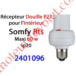 Récepteur Douille E27 intérieure Rts ip 20 Puissance Maxi 60 w