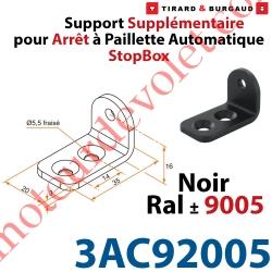 Support Supplémentaire en inox pour Tirette 4AC92001 Noir ± Ral 9005