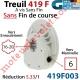 Treuil à Vis Sans Fin 419F Entrée Carré 6 Femelle Sortie Crabot Geiger Femelle Sans FdC
