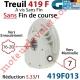 Treuil à Vis Sans Fin 419F Entrée Hexagonale 7 Femelle Sortie Crabot Geiger Femelle