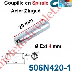 Goupille en Spirale ø 4 Lg 20 mm en Acier Zingué