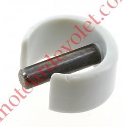 Clips de Blocage en Plast Gris Avec Goupille Cylindrique Inox pr Tube ø Ext 15,16 ou 17 mm