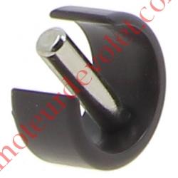 Clips de Blocage en Plast Noir Avec Goupille Cylindrique Inox pr Tube ø Ext 15,16 ou 17 mm