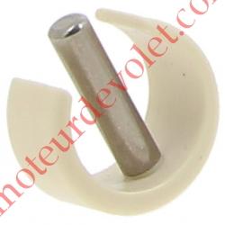 Clips de Blocage en Plast Beige Avec Goupille Cylindrique Inox pr Tube ø Ext 15,16 ou 17 mm