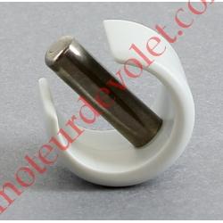 Clips de Blocage en Plast Gris Avec Goupille Cylindrique Inox pr Tube ø Ext 12 ou 13 mm