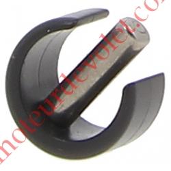 Clips de Blocage en Plast Noir Avec Goupille Cylindrique Inox pr Tube ø Ext 12 ou 13 mm