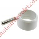 Goupille Cylindrique Inox & Bague de Blocage Grise pour Tube ø Ext 15 mm