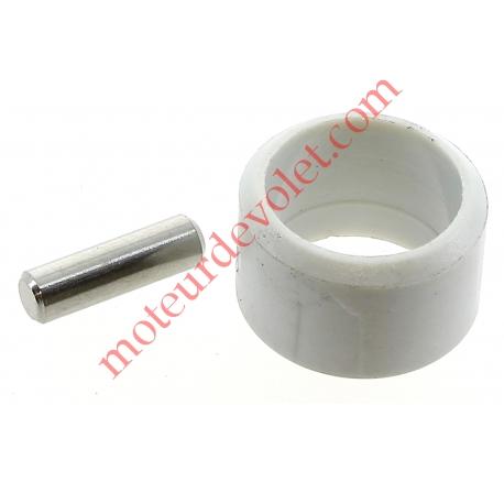 Goupille Cylindrique Inox & Bague de Blocage Grise pour Tube ø Ext 13 mm