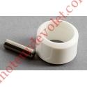Goupille Cylindrique Inox & Bague de Blocage Blanche pour Tube ø Ext 13 mm