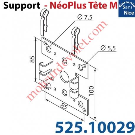 Support Nice Néoplus Tête M Métallique 100 x 100 multi entr'axes