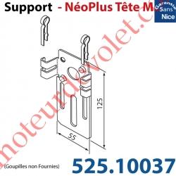Support Nice Néoplus Tête M Métallique 55 x 125 mm Réglable en Hauteur