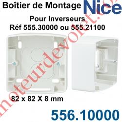 Boîtier de Montage 82x82 en Saillie de 40 mm Coloris Blanc pour Inverseurs Nice