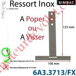 Ressort Inox à Poper sur Tube Laqué Gris pour Lames de 9 mm Longueur 130 mm