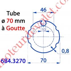 Tube Rond ø 70 Avec 4 Gorges à Goutte ø 10 en 8/10 Galva, le ml