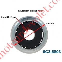 Roulement à Billes Acier Noyau Nylon ø Int 12 mm - ø Ext 42 mm Epaisseur 17 mm