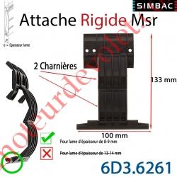 Attache Rigide Msr de 2 Charnières pour Lame 8-9 mm d'épaisseur