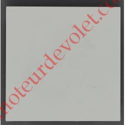 Embout de Coffre Modulo Alu de 150 Pan Droit en Abs Coloris Blanc