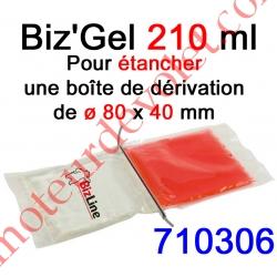 Biz Gel d'Etanchéité Electrique Constitué de 2 Pochettes de 105 ml à Mélanger pour remplir une boîte de dérivation ø 80 x 40 mm