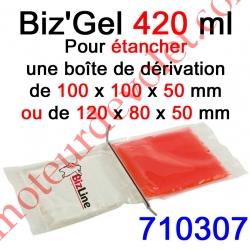 Biz Gel d'Etanchéité Electrique Constitué de 2 Pochettes de 210 ml à Mélanger pour remplir une boîte de dérivation 100x100X50 o