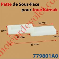 Patte de 85 x 35 mm pour Sous-Face de Joue Karnak