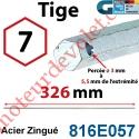 Tige Hexa 7 mm Lg 326 mm