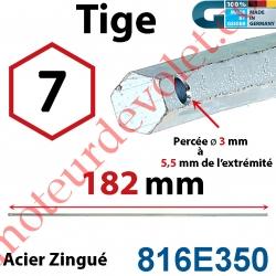 Tige Hexa 7 mm Lg 182 mm
