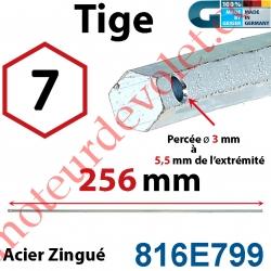 Tige Hexa 7 mm Lg 256 mm