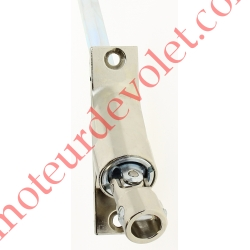 Sortie à 90° Zamac Nickelé Embase 22x85mm 2 Trous Entrée ø12 Femelle Avec Vis - Sortie Hexa 10 Mâle lg 500mm