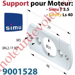 Plaque Support pour Moteur T3.5 Livrée avec 2 Vis Plastite n°7 Cple Maxi 13 Nm