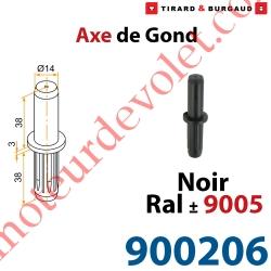 Axe de Gond en Polyamide Avec Insert en Acier pour Gond en Aluminium ø 14 mm Coloris Noir ± Ral 9005