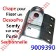 Chape pour Panneau Sectionnelle Spécifique pour Attacher le Bras du Dexxo Pro