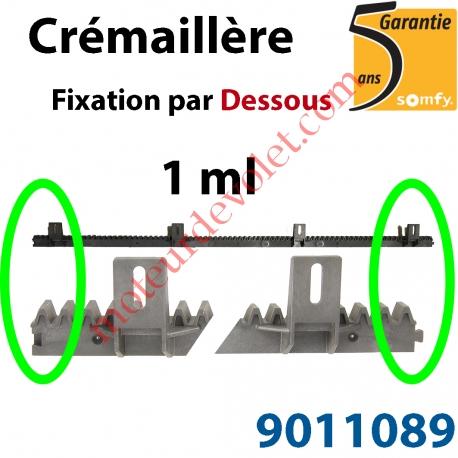 Crémaillère Nylon Armé Fixation par le Dessous (1 ml)