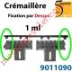 Crémaillère Nylon Armé  Fixation par le Dessus(1 ml)