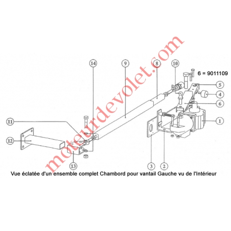 Coulisse de Bielle longueur 520 mm pour Chambord