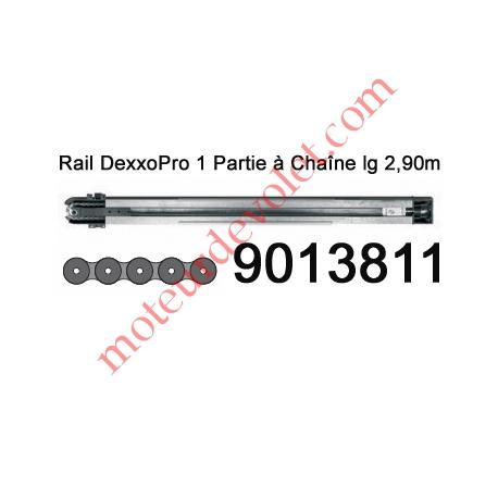 Rail Monobloc à Chaîne 30 000 Cycles lg 2,90m pour Dexxo Pro