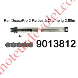 Rail en 2 Parties à Chaîne 30 000 Cycles lg 2,90m pour Dexxo Pro
